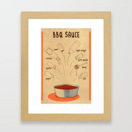 HOW TO: BBQ SAUCE Framed Art Print