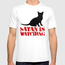 Satan is Watching Cat T-shirt