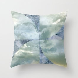 blue grey serendipity day Throw Pillow