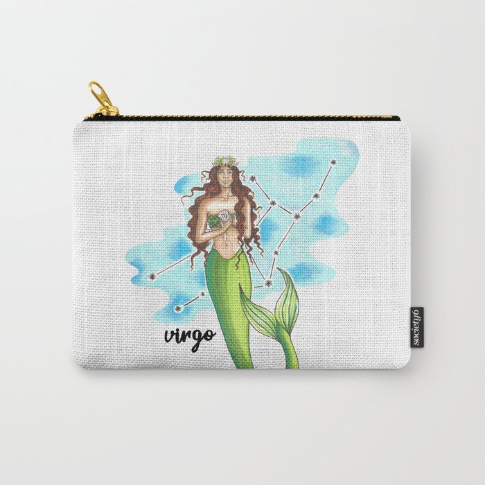 Virgo Mermaid Carry-All Pouch