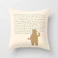 writing Throw Pillows featuring Writing by Sarinya  Withaya