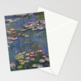 """Claude Monet """"Water lilies"""" (12) Stationery Cards"""