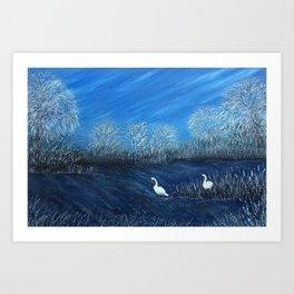 On Frozen Pond Art Print
