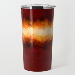 Red Burgundy & Fire Abstract Travel Mug