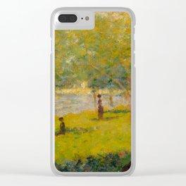 "Georges Seurat ""A Sunday on La Grande Jatte (study)"" (1884) Clear iPhone Case"