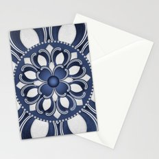 Spanish Flower in Blue Stationery Cards