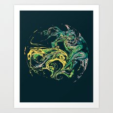 Swirling World V.1 Art Print
