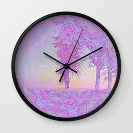 Beach Pink Wall Clock