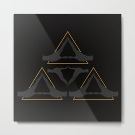 TRIFORCE MONKS Metal Print