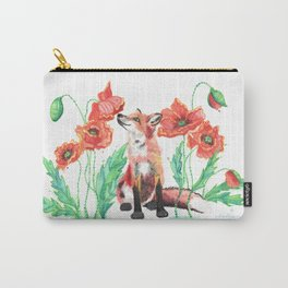 Paws & Smell the Poppies Carry-All Pouch