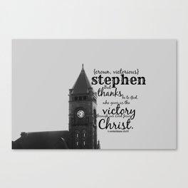 Stephen victorious Canvas Print