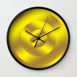 Minimal Circle Gold Wall Clock