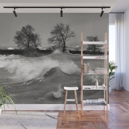 Lake Huron Waves Wall Mural