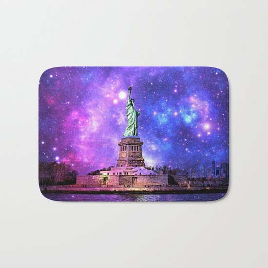 space Statue of Liberty Bath Mat