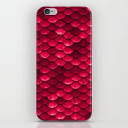 Ruby Red Mermaid Tail Scales iPhone Skin