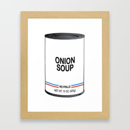 04 Onion Framed Art Print