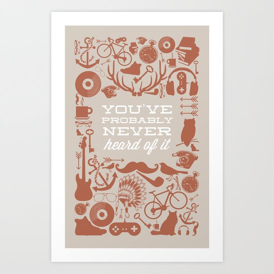 The Study of Hipsters Art Print