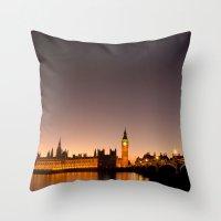 ben giles Throw Pillows featuring Ben by Corbishley