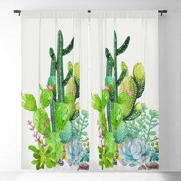 Cactus Garden II Blackout Curtain