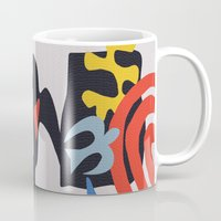 matisse Mugs featuring inspired to Matisse (black) by Chicca Besso