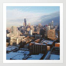 CHICAGO WINTER Art Print