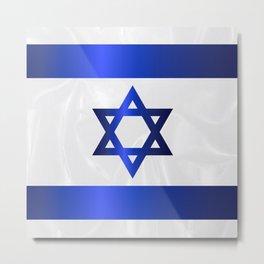 Israel Star Of David Flag Metal Print