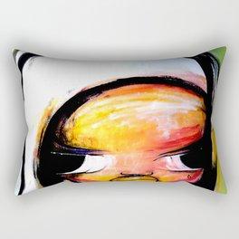 GIRL WITH BIRD Rectangular Pillow