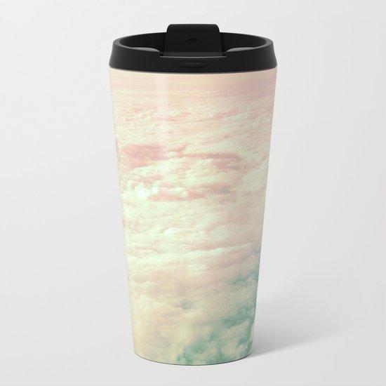 Raindbow Clouds Metal Travel Mug
