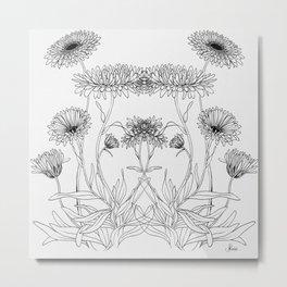 Calendula Flowers Metal Print