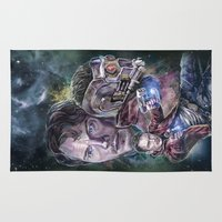 star lord Area & Throw Rugs featuring Star Lord - Galaxy Guardian by Nina Palumbo Illustration