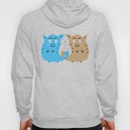 Two sweet cats in love #society6 #decor #buyart #artprint Hoody