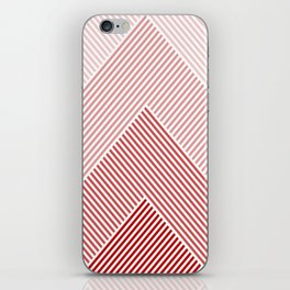 Shades of Red Abstract geometric pattern iPhone Skin