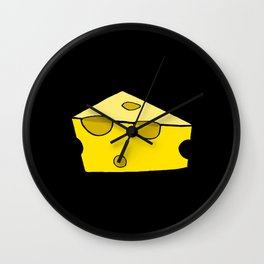 CHEESE FOR SMILE Wall Clock