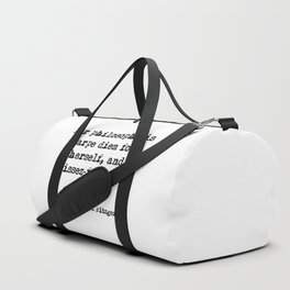 Her philosophy - Fitzgerald quote Duffle Bag
