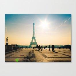 tour eiffel architecture in Paris Canvas Print