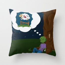 The Dead Do Dream Throw Pillow
