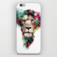 king iPhone & iPod Skins featuring THE KING by RIZA PEKER