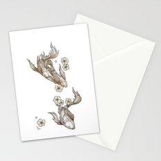 Mechanical Koi Stationery Cards