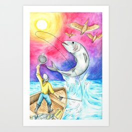 Better Fish To Fry Art Print