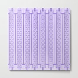 Cool Frosted Lilac Geometric Quilted Design Metal Print
