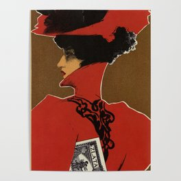 Golden Prague art nouveau Poster