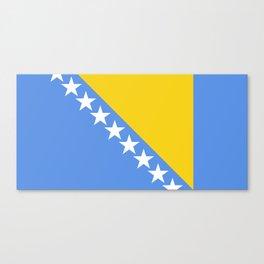 Flag of Bosnia and Herzegovina Canvas Print