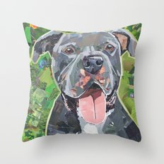 Keeto The Pittie Throw Pillow