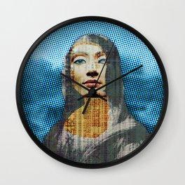 Nona Lifretéte in blue · CropCircle Wall Clock