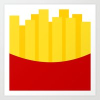 fries Art Prints featuring Fries by Jiro Tamase