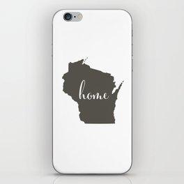 Wisconsin is Home iPhone Skin