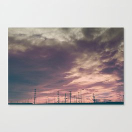 Sunset Over the Warehouses - Los Angeles #41 Canvas Print