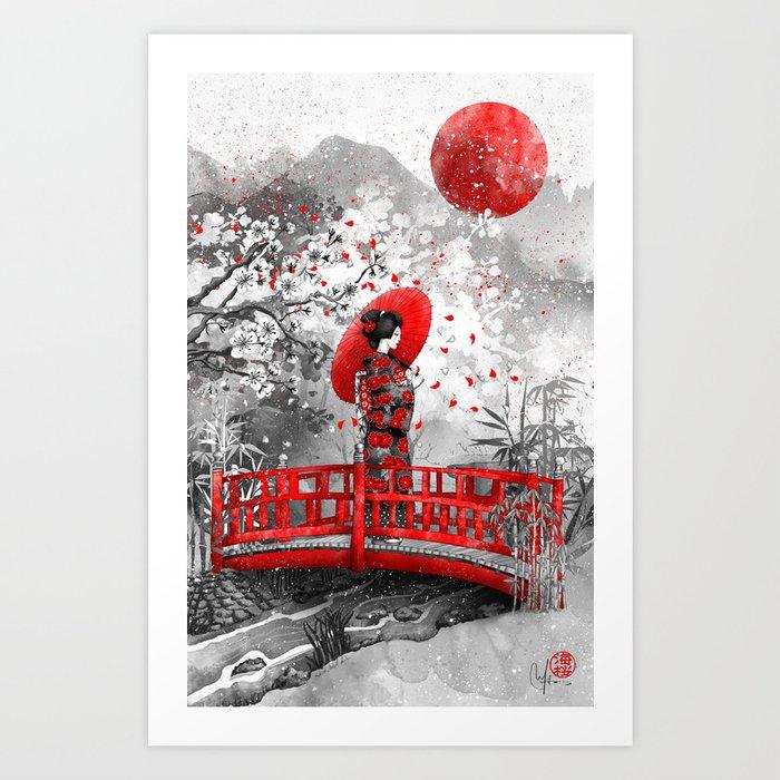 Higasa Art Print