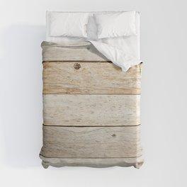Rustic Barn Board Wood Plank Texture Duvet Cover