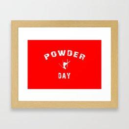 Powder Day Red Framed Art Print